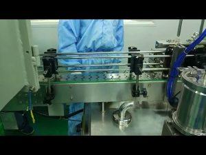 Mașină de umplere și înșurubare cu două șine de 30 ml până la 100 ml pentru sticlă rotundă